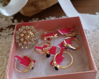 Seven Costume Gold Colored Rings #3