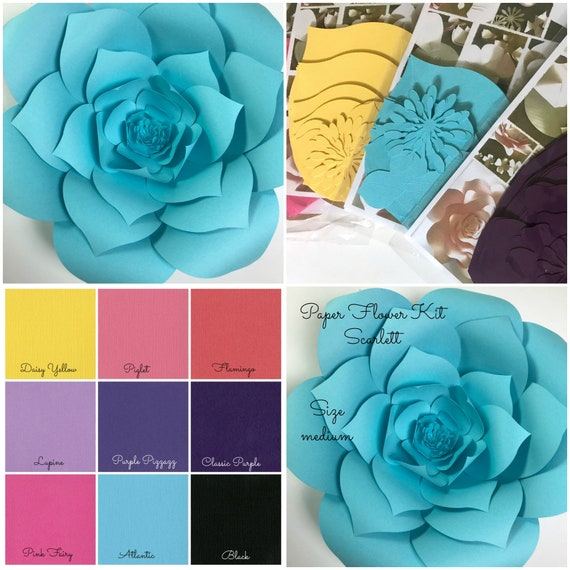 Paper flower kit do it yourself paper flower kits paper mightylinksfo Images