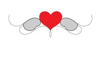 winged heart. angel heart.