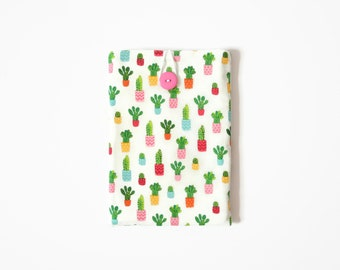 Cactus Kindle Sleeve, Cactus Gift for Her, Cactus Paperwhite Case, Ereader Case for Kindle Voyage and Oasis, Handmade
