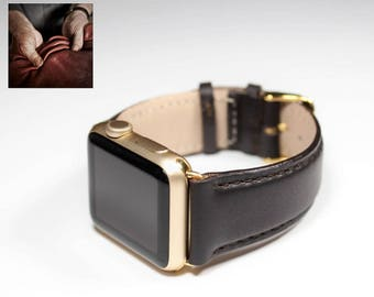 Leather Apple Band Leather Apple Watch Strap MADE IN ITALY Watch Series 3 Series 2 Series Apple Watch Band  Apple Watch Series