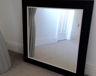 Black and White wood frame 625mm x 625mm