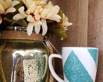 Glitter Dipped Coffee Mug- Custom