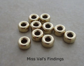 10 gold filled beads rondelle 5mm