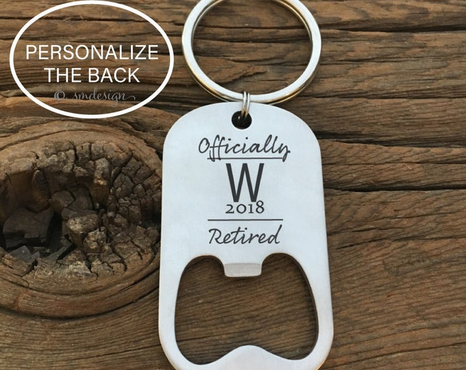 Personalized Officially Retired 2018 Bottle Opener Keychain