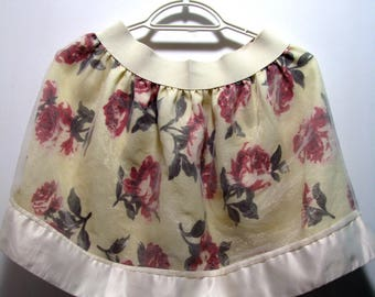 Girl Skirt Summer Skirt Vintage Small Size Skirt Harajuku Fashion Skirt Sweet Lolita Skirt Kawaii Fashion Skirt/ flower print skirt