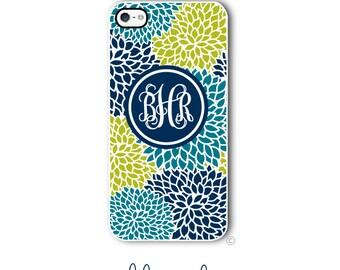 Floral Phone Case Monogram iPhone 6 Case iPhone 6s Case Samsung Galaxy S5 S6 Case iPhone 5 Case iPhone 6 Plus Case iPhone 5c Case Style 298