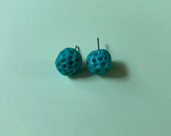 Teal Stud Earrings
