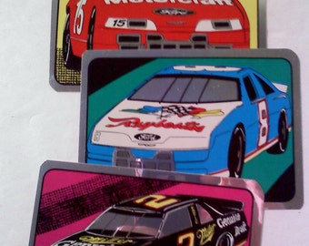 STICKERS- Race Cars, Set of 3
