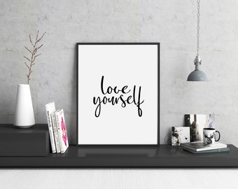 Art Print | Love Yourself | Home Decor