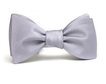 Men's bow tie Dusty Blue Self Bow Tie Mens Normal Tuxedo Tux Normal Gift for him Gray G5