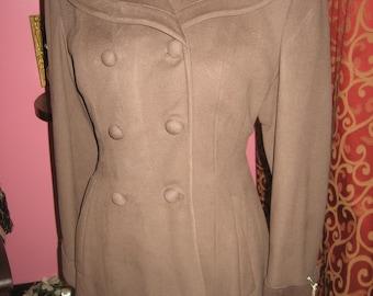 """1950's, 38"""" bust, coca brown wool coat"""