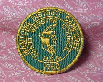 1960 Mantowa District Camporee Boy Scouts of America Daniel Webster Council Patch BSA