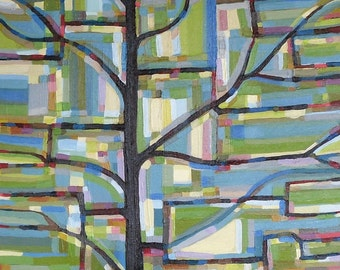 Tree View no. 41 Painting on Canvas (medium-large, 20 x 20) Original Fine Art by Kristi Taylor