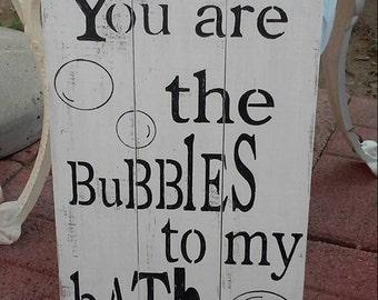 Bubbles to my bath, bathroom sign, bathroom wall decor, bathroom decor, bathroom, bath quote, housewarming gift, kids bathroom, gift,
