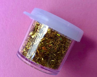 Gold Holographic glitter 3g (flakes)