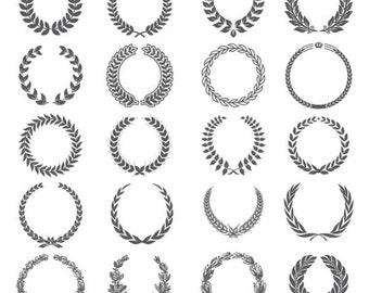 Laurel Wreath Clipart, Laurel Clipart, Wreath Clipart, Laurel Wreath Clip Art PNG & Vector EPS, AI Design Elements Digital Instant Download