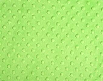 Dark Lime Dimple Minky From Shannon Fabrics 1 Yard