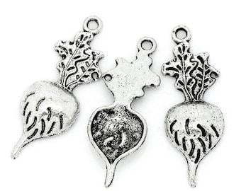 Radish - set of 8 charms - #R122