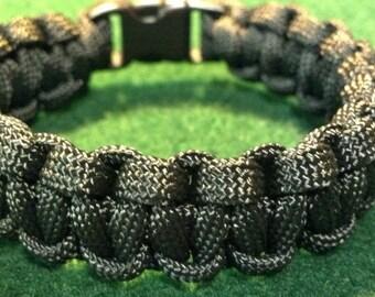 All Black Paracord Survival Bracelet