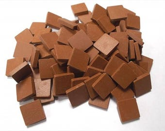 Mosaic Sheet, 75 Tiles. Saddle Brown porcelain Great tiles very easy to use and cut.