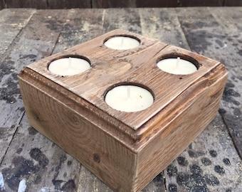 Medium tealight holder ,recycled pallet wood