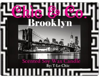 Brooklyn. Scented Soy Wax Candle. 11 oz