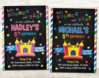 Bounce House Birthday Invitation - Bounce House Birthday Party - Bounce House Birthday Party Invite - Girls Bounce House - Boys Bounce House