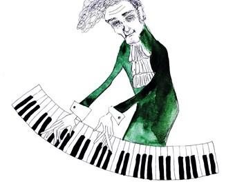 Art Print Postcard: Piano Man