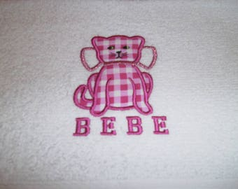 EMBROIDERED BABY TOWEL AND FABRIC 30 X 50