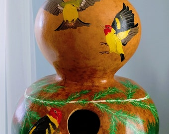 Bird Flight Birdhouse Gourd