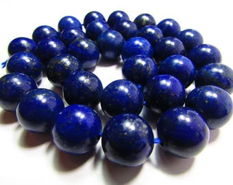 Set of 2 Lapis Lazuli 12 mm beads