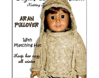Fits American Girl. Knitting pattern, AG doll clothes 18 inch PDF, Instant Download 009