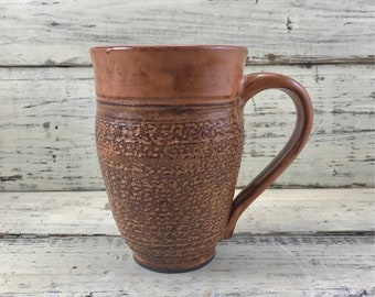Pottery, Wheel Thrown Ceramic Handmade Stoneware Coffee or Tea Mug, Cup
