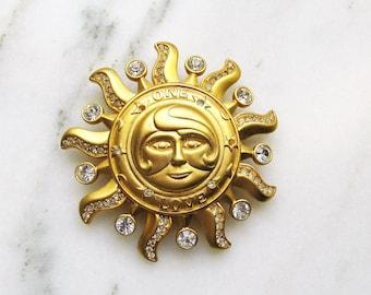 Kirks Folly Rhinestone 'One Love' Sun Brooch