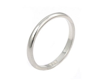 Simple band ring. Sterling silver 2mm band ring. Stackable ring. Stacking rings. Silver band ring.