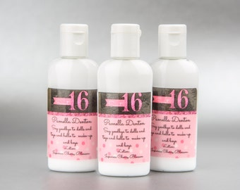 Personalized. Sweet 16. Lotion set