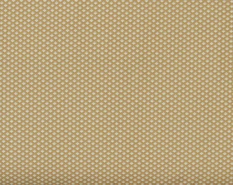 Tiny White Floral Design on Golden Brown Background 100% Cotton Quilt Fabric, Evelyn by Whistler Studios for Windham Fabrics, WIF41988-4