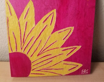Sunflower (Wood Carving)