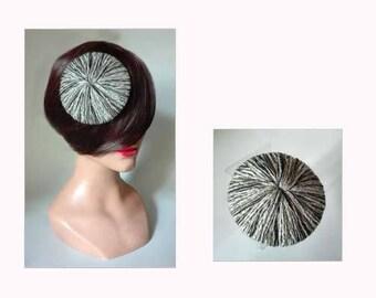 fascinator wool, wool hat, pillbox wedding hat, pillbox Hat winter woman Winter Damen Hut