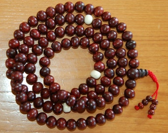 Rosewood Mala with Yak Bone Spacers for Meditation