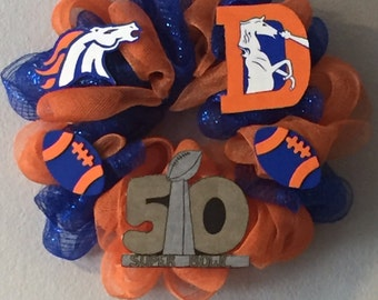 Denver broncos super bowl 50 wreath, gift