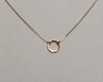 Gold Circle Necklace / Gold Eternity Necklace / Layered Necklace / Minimalist Necklace / Gold Filled Minimal Necklace