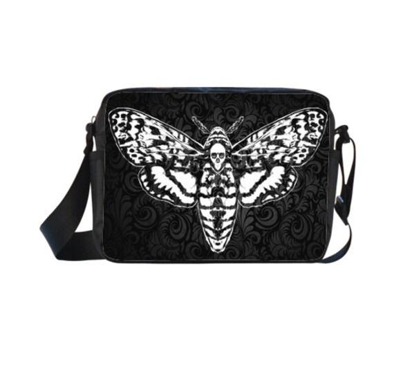 Death Head Moth on Damask Cross-body Nylon Bag