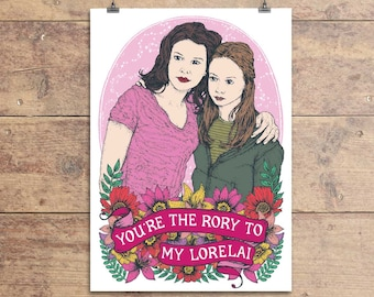 Gilmore Girls Greeting Card - Rory and Lorelai - Friendship - Birthday - Greeting Card