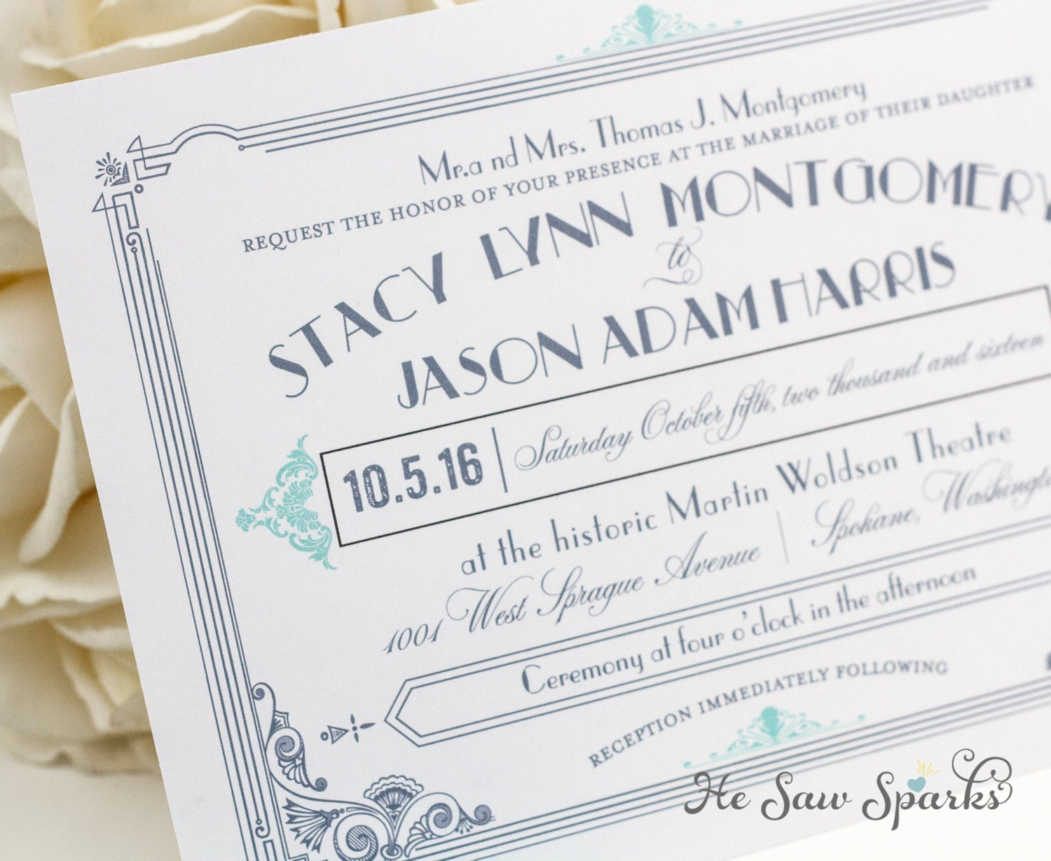 Great Wedding Invites: Art Deco Printable Wedding Invitation The Great Gatsby