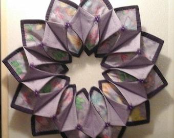 purple glittery butterflies  wreath/centerpiece