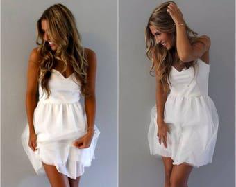 Sweetheart Short Beach Simple Wedding Dress