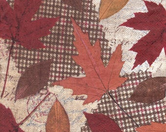 437 LES leaves dead 1 paper size 33 X 33 lunch napkin