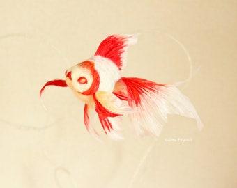 """Needle felted goldfish""""Adenishiki"""""""